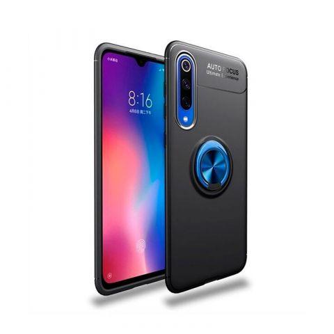 Чехол для Xiaomi Mi 9 Lite / Mi CC9 Deen ColorRing с кольцом-Black/Blue