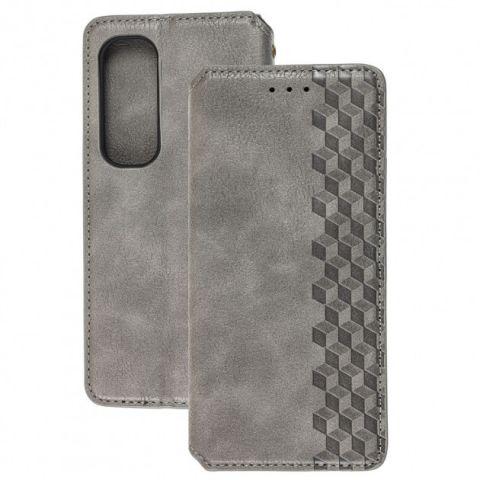 Чехол-книжка для Xiaomi Mi Note 10 Lite Getman Cubic-Gray