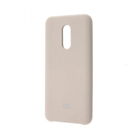 Чехол на Xiaomi Redmi 5 Plus Soft Touch Silicone Cover-Antique White