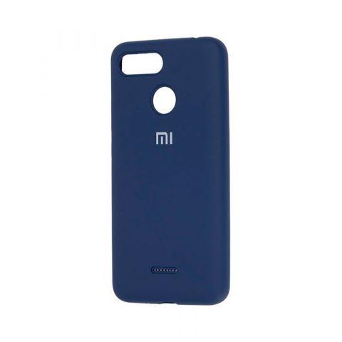 Чехол для Xiaomi Redmi 6 Silicone Full-Dark Blue