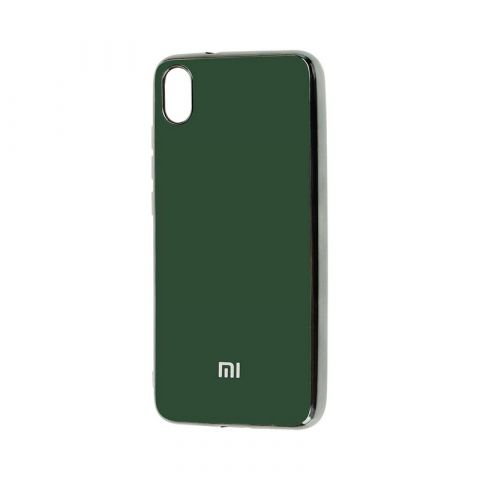 Чехол для Xiaomi Redmi 7A Glass Silicone Case-Dark Green