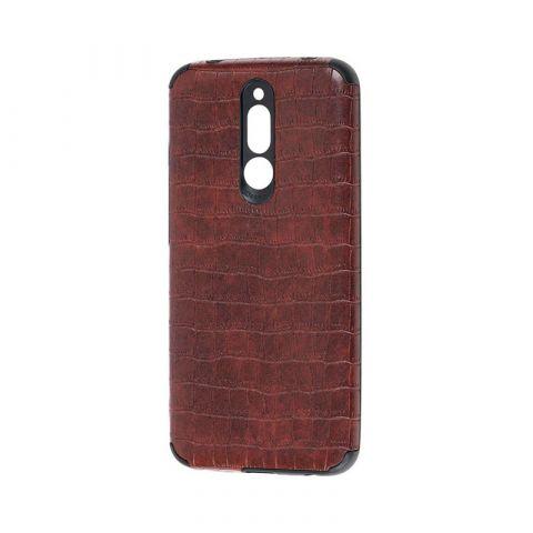 Чехол для Xiaomi Redmi 8 Epic Vivi Crocodile-Dark Brown
