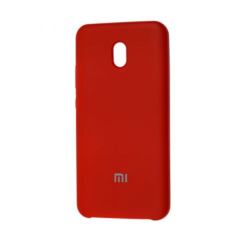 Чехол для Xiaomi Redmi 8A Soft Touch Silicone Cover-Dark Red