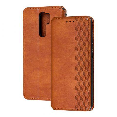 Чехол-книжка для Xiaomi Redmi 9 Getman Cubic-Brown