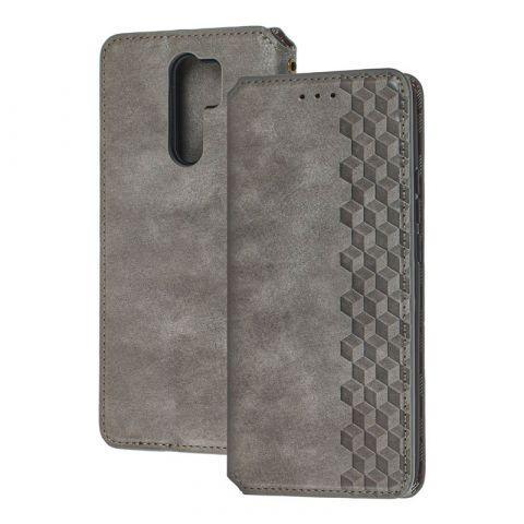 Чехол-книжка для Xiaomi Redmi 9 Getman Cubic-Gray