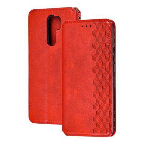 Чехол-книжка для Xiaomi Redmi 9 Getman Cubic-Red