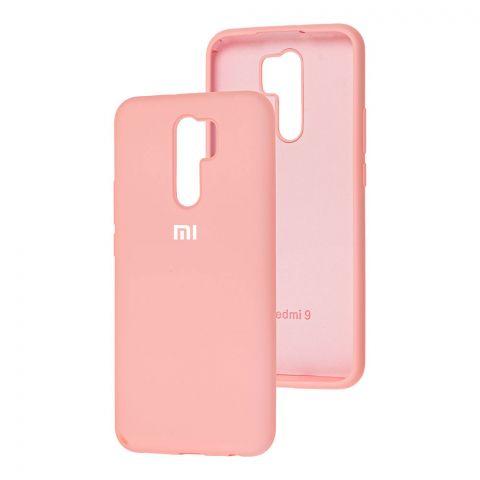Силиконовый чехол для Xiaomi Redmi 9 Silicone Full-Light Pink