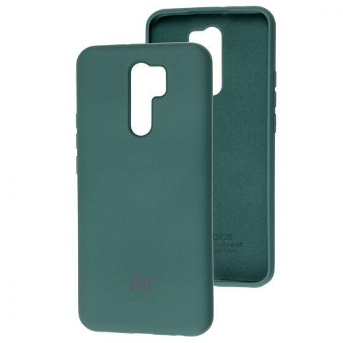 Силиконовый чехол для Xiaomi Redmi 9 Silicone Full-Pine Green