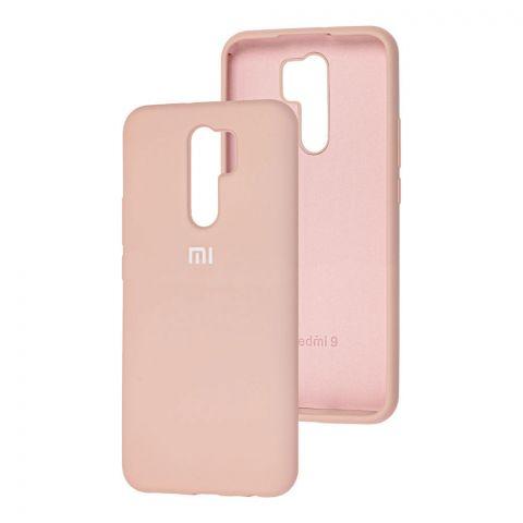 Силиконовый чехол для Xiaomi Redmi 9 Silicone Full-Pink Sand