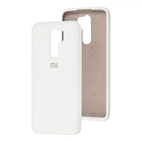 Силиконовый чехол для Xiaomi Redmi 9 Silicone Full-White