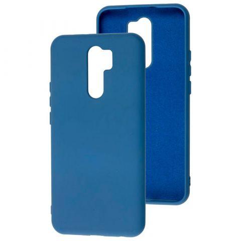 Чехол для Xiaomi Redmi 9 Silicone Full without Logo-Blue