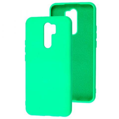 Чехол для Xiaomi Redmi 9 Silicone Full without Logo-Light Green