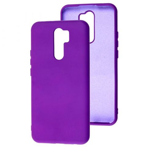 Чехол для Xiaomi Redmi 9 Silicone Full without Logo-Violet