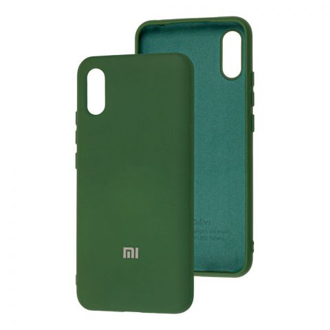 Силиконовый чехол для Xiaomi Redmi 9A Silicone Full-Dark Green
