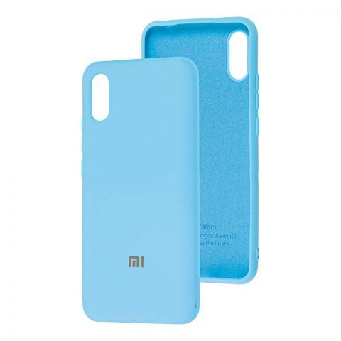 Силиконовый чехол для Xiaomi Redmi 9A Silicone Full-Light Blue