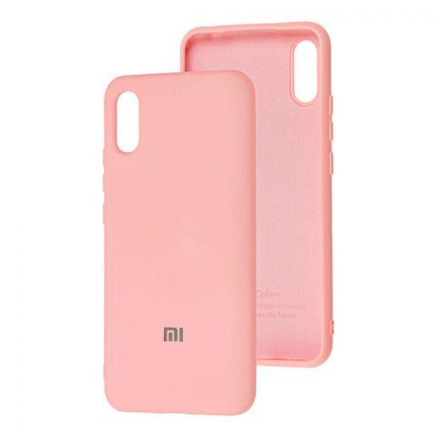 Силиконовый чехол для Xiaomi Redmi 9A Silicone Full-Light Pink