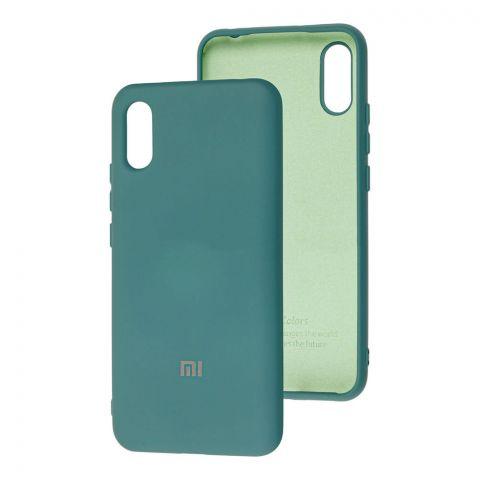 Силиконовый чехол для Xiaomi Redmi 9A Silicone Full-Pine Green