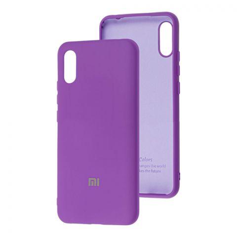 Силиконовый чехол для Xiaomi Redmi 9A Silicone Full-Violet