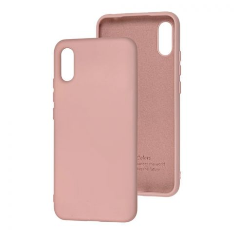 Чехол для Xiaomi Redmi 9A Silicone Full without Logo-Pink Sand