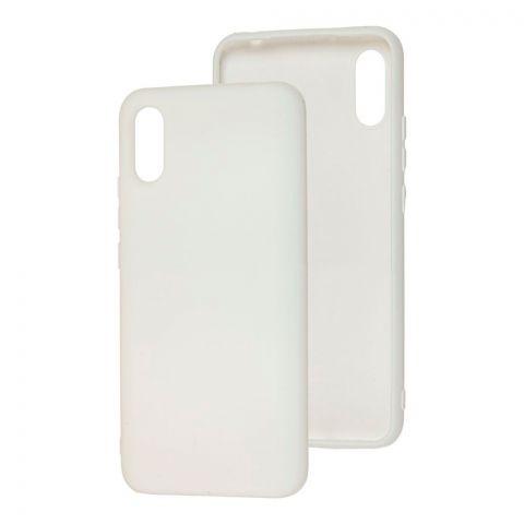 Чехол для Xiaomi Redmi 9A Silicone Full without Logo-White