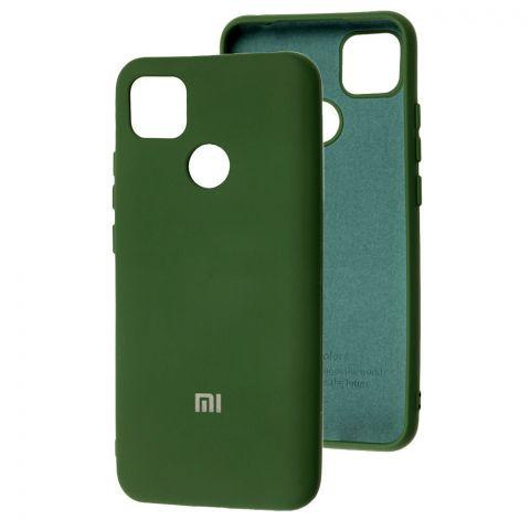 Силиконовый чехол для Xiaomi Redmi 9C Silicone Full-Dark Green