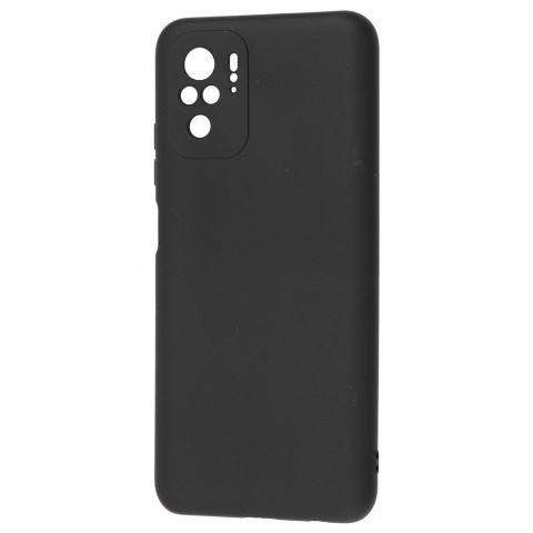 Силиконовый чехол для Xiaomi Redmi Note 10/10S SMTT-Black