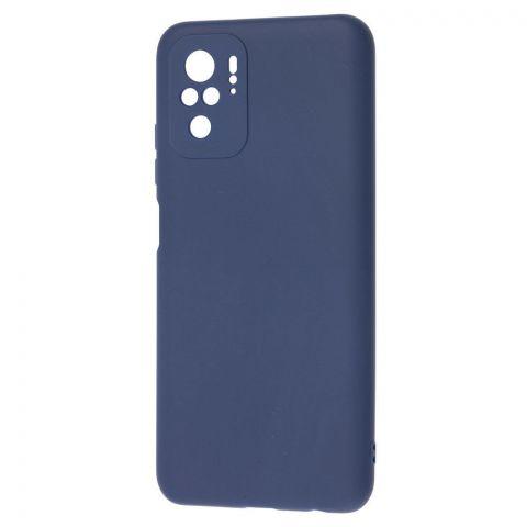 Силиконовый чехол для Xiaomi Redmi Note 10/10S SMTT-Blue