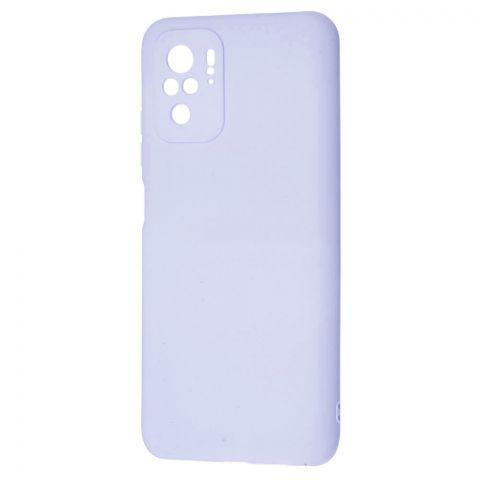 Силиконовый чехол для Xiaomi Redmi Note 10/10S SMTT-Light Violet