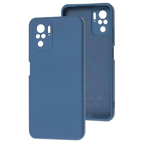 Силиконовый чехол для Xiaomi Redmi Note 10/10S Wave colorful-Blue