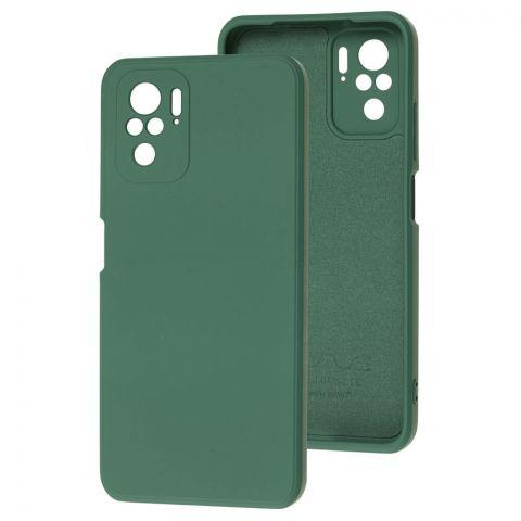 Силиконовый чехол для Xiaomi Redmi Note 10/10S Wave colorful-Forest Green