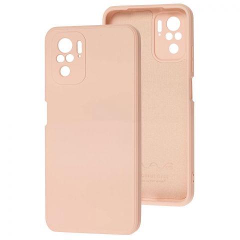 Силиконовый чехол для Xiaomi Redmi Note 10/10S Wave colorful-Pink Sand