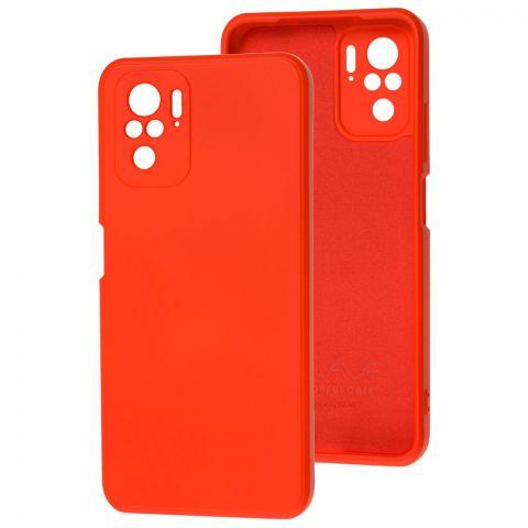 Силиконовый чехол для Xiaomi Redmi Note 10/10S Wave colorful-Red