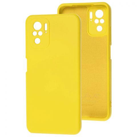 Силиконовый чехол для Xiaomi Redmi Note 10/10S Wave colorful-Yellow