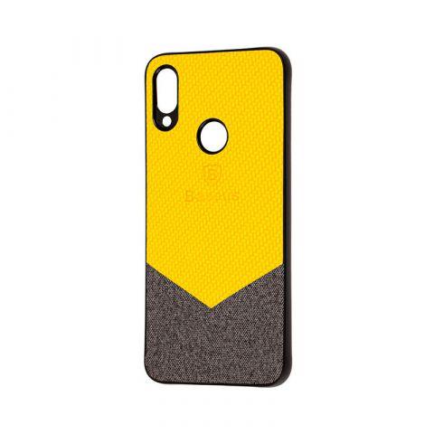 Чехол для Xiaomi Redmi Note 7 Baseus color textile-Yellow