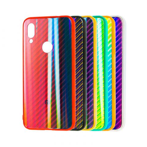 Чехол для Xiaomi Redmi Note 7 Carbon Gradient Hologram