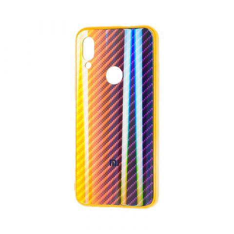 Чехол для Xiaomi Redmi Note 7 Carbon Gradient Hologram-Gold