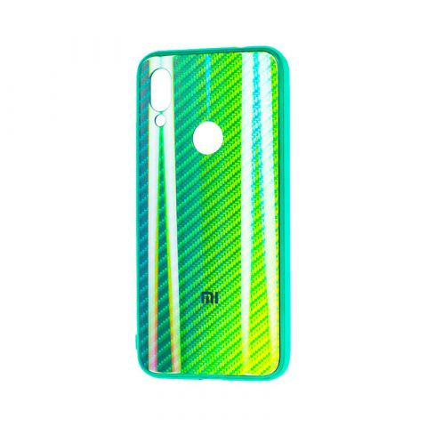 Чехол для Xiaomi Redmi Note 7 Carbon Gradient Hologram-Green