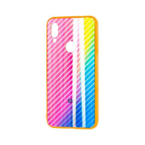 Чехол для Xiaomi Redmi Note 7 Carbon Gradient Hologram-Pink