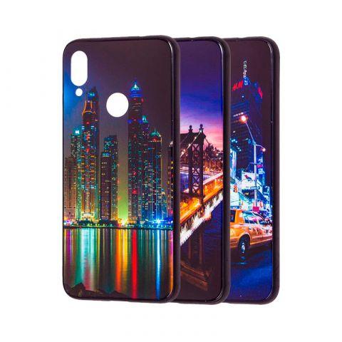Чехол для Xiaomi Redmi Note 7 Glass New (город)