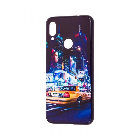 Чехол для Xiaomi Redmi Note 7 Glass New (город)-Midnight Blue