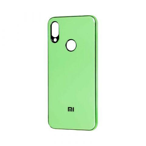 Чехол для Xiaomi Redmi Note 7 Glass Silicone Case-Mint