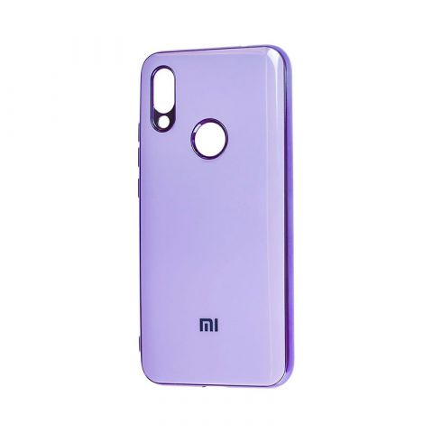 Чехол для Xiaomi Redmi Note 7 Glass Silicone Case-Purple