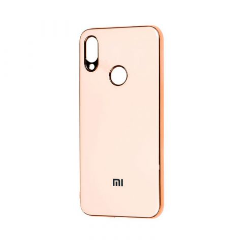 Чехол для Xiaomi Redmi Note 7 Glass Silicone Case-Rose Gold