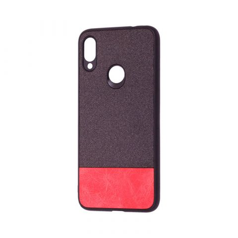 Чехол для Xiaomi Redmi Note 7 Hard Textile-Black/Red