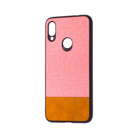 Чехол для Xiaomi Redmi Note 7 Hard Textile-Pink/Brown