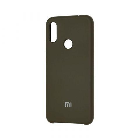 Чехол для Xiaomi Redmi Note 7 Soft Touch Silicone Cover-Dark Olive