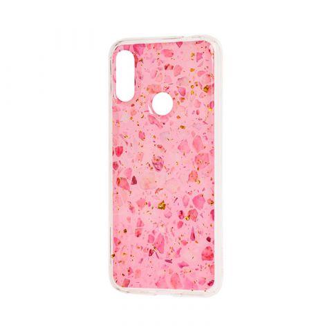 Чехол для Xiaomi Redmi Note 7 Wave конфети-Pink