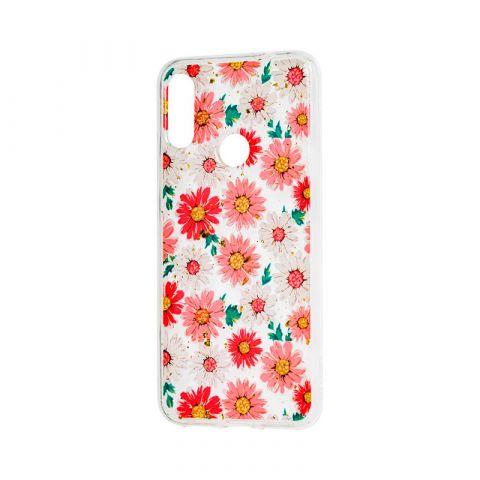 Чехол для Xiaomi Redmi Note 7 Wave конфети-Red