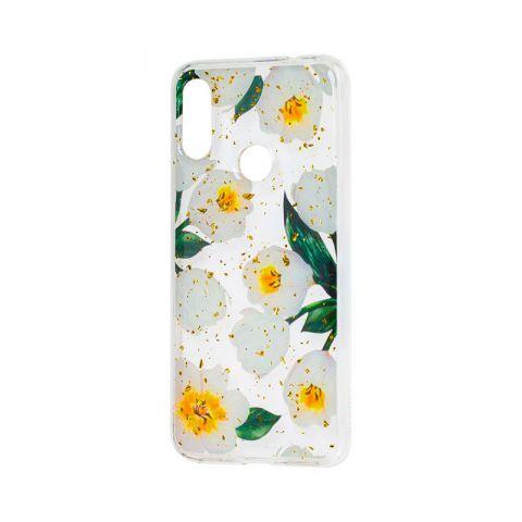 Чехол для Xiaomi Redmi Note 7 Wave конфети-White