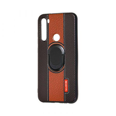 Чехол для Xiaomi Redmi Note 8 Dlons с кольцом-Black/Brown